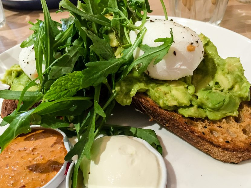 """Avocado on toast with poached eggs at Lucky Penny in South Yarra"" by Katherine Lim (CC BY 2.0)"