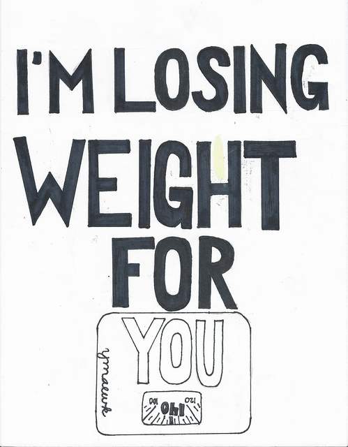 """i'm losing weight for you"" by halfstoned, CC BY 2.0"